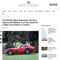 The World's Most Expensive Car Ever Sold for $44 Million