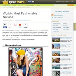 World's Most Fashionable Nations