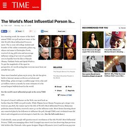 2009 - The World's Most Influential Person Is...