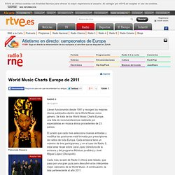 World Music Charts Europe de 2011