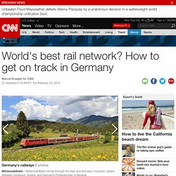 World's best rail network? Getting on track in Germany