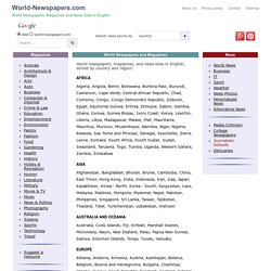 World Newspapers and Magazines