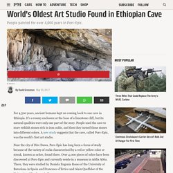 World's Oldest Art Studio Found in Ethiopian Cave