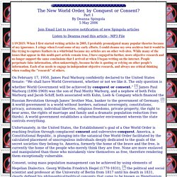 The New World Order, By Conquest or Consent