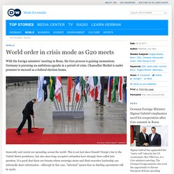 World order in crisis mode as G20 meets