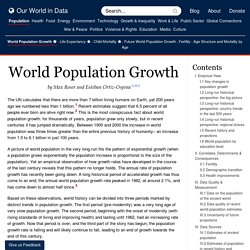World Population Growth - Our World In Data