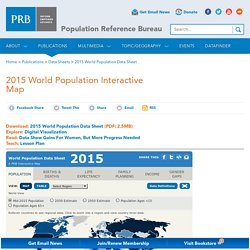 2015 World Population Interactive Map