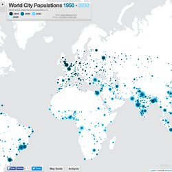 World City Populations Interactive Map 1950-2030