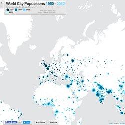World City Populations Interactive Map 1950-2030