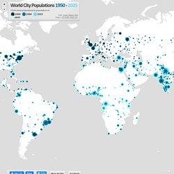 World City Populations Interactive Map 1950-2035