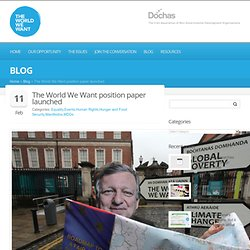 The World We Want position paper launched » World We Want