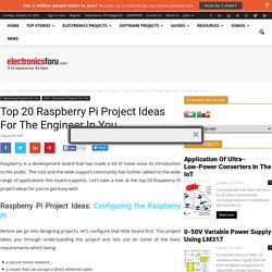 World's Top 20 Raspberry Pi Project Ideas