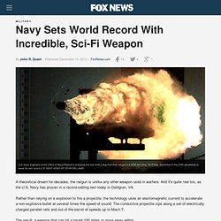 Navy Sets World Record With Incredible, Sci-Fi Weapon