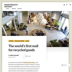 The world's first mall for recycled goods