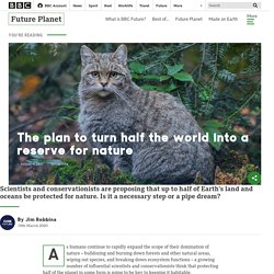 The plan to turn half the world into a reserve for nature - BBC Future