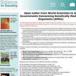 World Scientists Statement