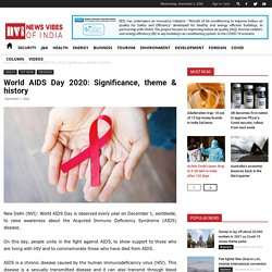 World AIDS Day 2020: Significance, theme & history - News Vibes of India