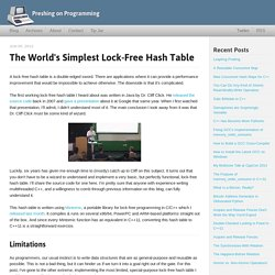 The World's Simplest Lock-Free Hash Table