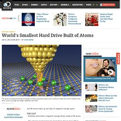 World's Smallest Hard Drive Built of Atoms