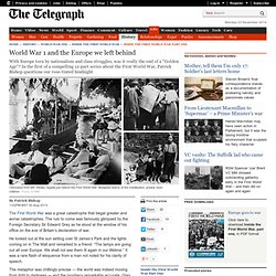World War 1: the state of Europe in the build up