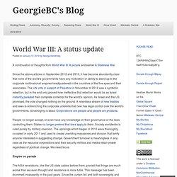 World War III: A status update