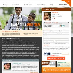 World Vision Sponsor a Child