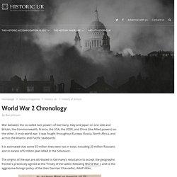 World War 2 Chronology - Historic UK