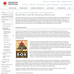 World War I and the American Red Cross