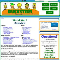 World War I for Kids: Overview