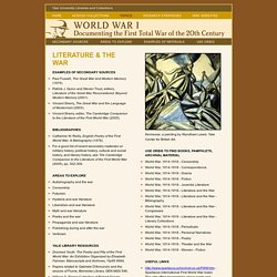 Literature and the War