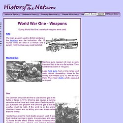 World War One - Weapons