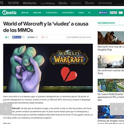 World of Warcraft y la 'viudez' a causa de los MMOs