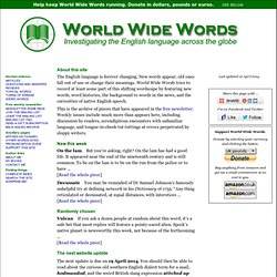 World Wide Words