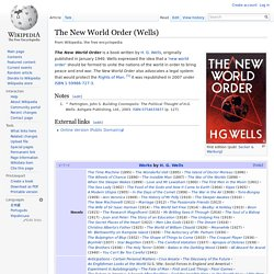 The New World Order (Wells)