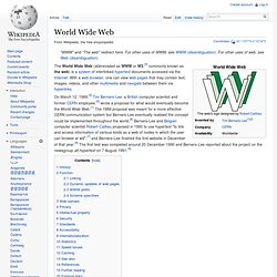 World Wide Web - Wikipedia