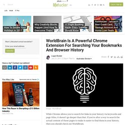 WorldBrain Is A Powerful Chrome Extension For Searching Your Bookmarks And Browser History