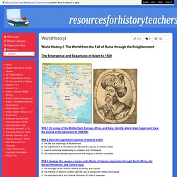 resourcesforhistoryteachers - WorldHistoryI