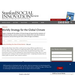 Worldly Strategy for the Global Climate