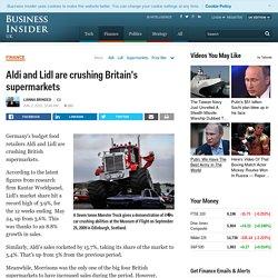 Kantar Worldpanel data: Aldi and Lidl market share - Business Insider