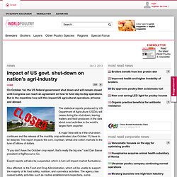 WORLD POULTRY 01/10/13 Impact of US govt. shut-down on nation's agri-industry