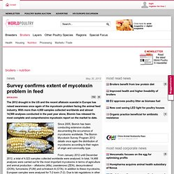 WORLD POULTRY 30/05/13 Survey confirms extent of mycotoxin problem in feed