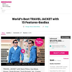 Worlds Best TRAVEL JACKET with 15 Features-BauBax