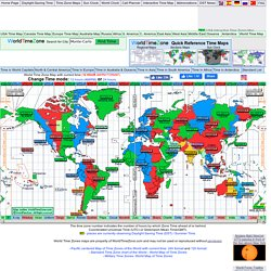 Time - Current time around the World and standard time zones map of the world- 12 format