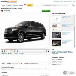 Worldwide Luxury Chauffeur Service