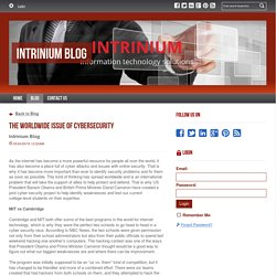 The Worldwide Issue of Cybersecurity - Intrinium Blog : powered by Doodlekit