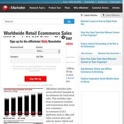 Worldwide Retail Ecommerce Sales Will Reach $1.915 Trillion This Year - eMarketer