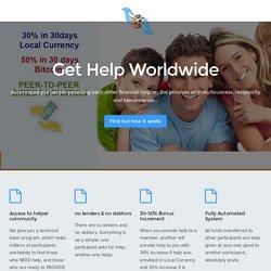Get Help Worldwide - #1 World's Mutual Financial Aid Community