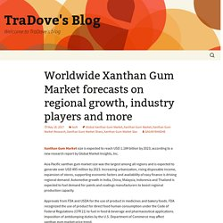 Worldwide Xanthan Gum Market forecasts on regional growth, industry players and more