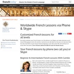 Worldwide French Lessons via Phone & Skype