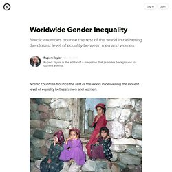 Worldwide Gender Inequality: Icelandic Women Come Closest to Parity with Men